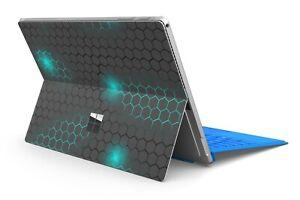 Microsoft Surface Pro 4/5/6/7 Skin Schutzfolie Skins Aufkleber Exo small Blue