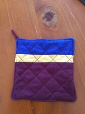 Quilted Pot Holder - football colours - Brisbane Lions