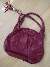 furla shoulder red leather women purse bag italian design handbag