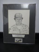Pencil Drawing Indianapolis 500 Winner AJ Foyt IMS Museum 1977
