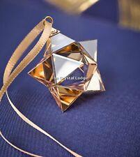 SWAROVSKI Natale Ornamento Stella D'Oro Piccolo 5223596 Nuovo di zecca Boxed RITIRATO RARO