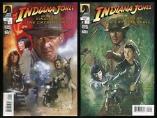 Indiana Jones and the Kingdom of the Crystal Skull Movie Comic set 1-2 Lot Film