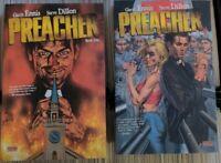 Preacher TPB Volumes #1-2 Vertigo Garth Ennis Steve Dillon