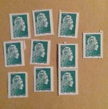 Lot 10 timbres  Lettre Verte Marianne 20g Neuf*