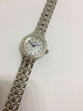 Swarovski Crystal Lucien Piccard Quartz Woman's Watch! Very Bling Bling!