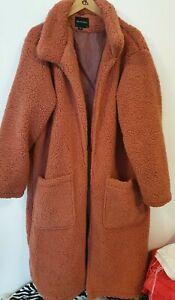 BRAVE SOUL Long Length Teddy Coat Size UK22