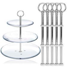 5 x Mini Silber Metallstange Mittellochausstech für 3 Etage Servierplatte 21cm