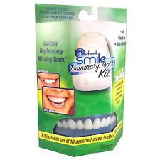 Instant Smile Temporary Tooth Kit 10 False Teeth Cosmetic Fake Replacement Fix