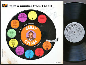 BENNY GOLSON Take A Number From 1 To 10 LP ARGO LP 681 US 1961 MONO AUTOGRAPHED