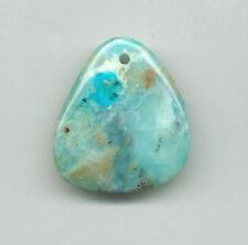 PERUVIAN BLUE OPAL FREEFORM PENDANT BEAD - 18-0 - 35x31x8MM