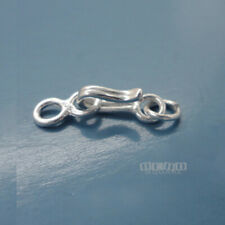 1 Set Solid Sterling Silver Hook Clasp w/ Eye Connector & Jump Ring #33231