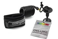 Turbo Deluxe Bodyboard Wrist Leash with Leash Plug & String - Black - NWT - Free