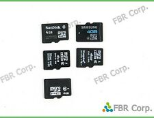 Samsung SanDisk Kingston 4GB Lot 100 Micro SD HC MicroSD Flash Memory Card