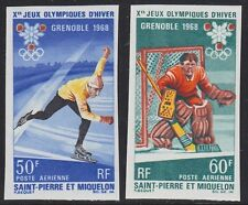 ST. Pierre Miquelon 1968 OLYMPIA Grenoble MER. 423-24 ungezähnt, Imperforated