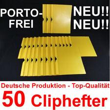 50 Cliphefter Bewerbungsmappen Klemmhefter NEU! - Gelb - Mappen für Bewerbung