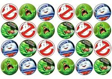 GHOSTBUSTERS  Edible cake party toppers x 24 GHOST BUSTERS
