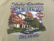 Harley Davidson Motorcycles Seaford Delaware Classic Ride T Shirt 2XL Green 2009