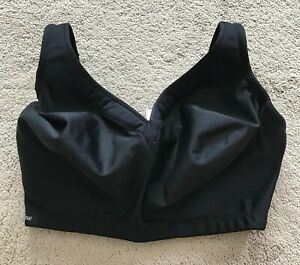 BNWT Glamorise Ultimate Full Figure Black Sports Bra 36G