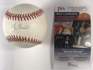 YOGI BERRA SIGNED AUTOGRAPH OAL BASEBALL - JSA CERT - STICKER S3214