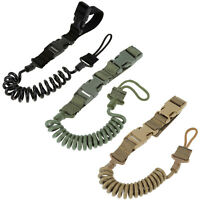 Max1.5m/ 59'' Adjustable Military Tactical Elastic Release Sling Spring Lanyard