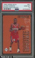1996-97 Upper Deck Rookie Exclusives Allen Iverson Philadelphia 76ers RC PSA 10