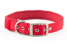 Ancol Padded Nylon Eyelet Collar  - Pink Blue Red Black Collars Leads