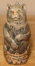 Tomcat with Herring by Eckhardt & Engler 1/2 L German beer stein # 420 character