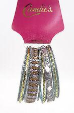 New 11 Piece Ornate Glitter Metal Bangle Bracelet Set nwt #B1181