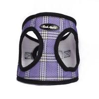 Bark Appeal EZ Wrap Plaid Mesh Dog Step In Harness Lavender Sizes XXS-XXL