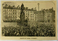 1884 magazine engraving ~ STATUE OF DANIEL O'CONNELL, Dublin