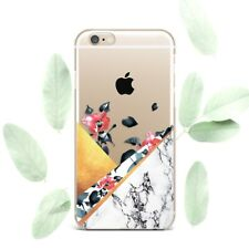 Golden Marble Stone Case For iPhone 7 8 Plus Floral Cover New iPhone XR XS Max