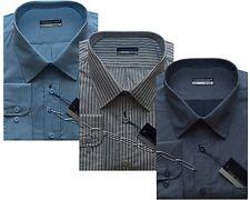 Mens King Size Long Sleeve Stripe/Check Shirt 3XL - 6XL By Tom Hagan