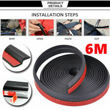 6M Car Door Edge Z Type Rubber Seal Strip Hollow Weatherstrip Trim Protector