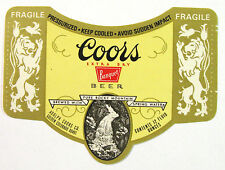 """Adolph Coors EXTRA DRY BANQUET BEER label CO 12oz - """"Fragile"""""""