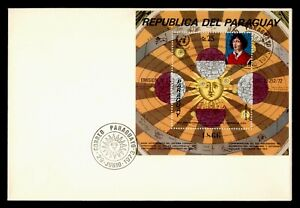 DR WHO 1973 PARAGUAY FDC NICOLAUS COPERNICUS S/S SPACE  g10605