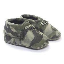 Bebé Niña Niño Cuna Borlas Camuflaje Zapatos Suelas blandas Zapatillas Informal