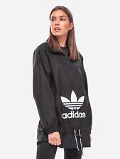 Adidas Originals W Trefoil Oversize Black Windbreaker Size UK 6,8,12,18 New 831
