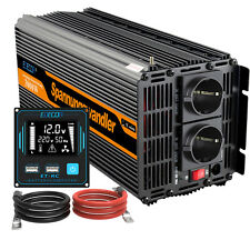 EDECOA Convertitore 3000W/6000W 12V 220V Power Inverter trasformatore USB RV