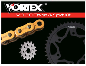 HONDA 2013-2018 CBR500R VORTEX 520 CHAIN & STEEL SPROCKET KIT -1+2 14-43  GOLD