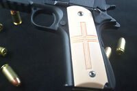 Holy Cross Inlaid 1911 Grips Kimber Colt Rock Island Ruger Springfield Etc