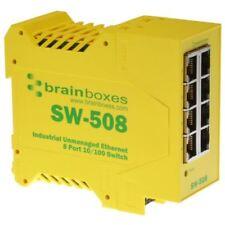 Brainboxes SW-508 Industrial Ethernet 8 PORTE SWITCH montabile su guida DIN