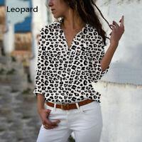 Women's Long Sleeve Casual Shirt Blouse Office Ladies Top Work Shirt Plus Size