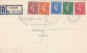 GB 1951 GEORGE V1 STAMPS ON PLAIN FDC 3 MAY REGISTERED COSHAM