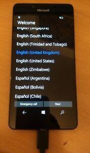 Microsoft Lumia 950 32GB Black Unlocked 4G LTE Smartphone FAULTY NOT WORKING