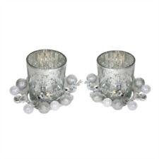 Portacandele in argento di vetro per la decorazione della casa