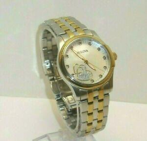 Bulova Diamond Hearts Pearl Gold & Silver Stainless Steel Womens Watch, 98P152