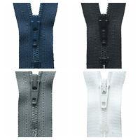 Premium Quality YKK Nylon Dress Skirt Trouser Coil Zipper Zips Closed End