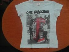 ONE DIRECTION DIRECTIONER T-SHIRT BIANCO TG M FRUIT OF THE LOOM USATO OTTIMO