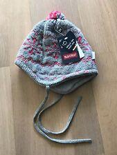 Warme Strickmütze, Wollmix mit Innenfutter, grau,pink, Maximo, 49, Neu m Etikett
