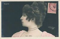 Suzanne Avril Hand Colored Reutlinger Postcard - French Actress - udb (pre 1908)
